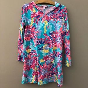 Lilly Pulitzer Dress Tunic Cover Up Girls 12 14